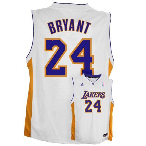 adidas Los Angeles Lakers Kobe Bryant White NBA Jersey -  Boys 8-20