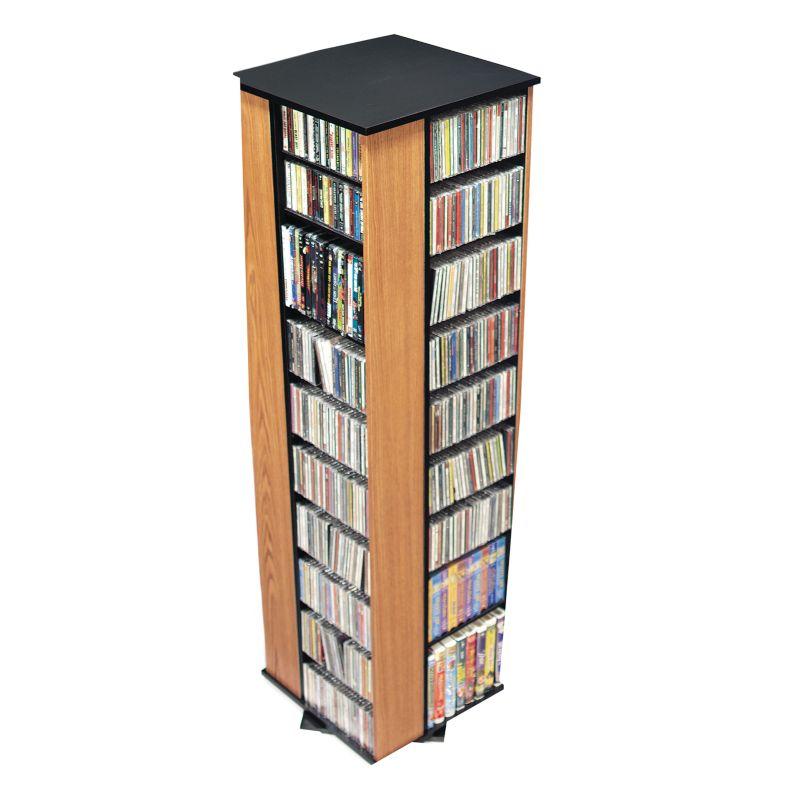Prepac Oak & Black Large 4-Sided Spinning Tower 91466862
