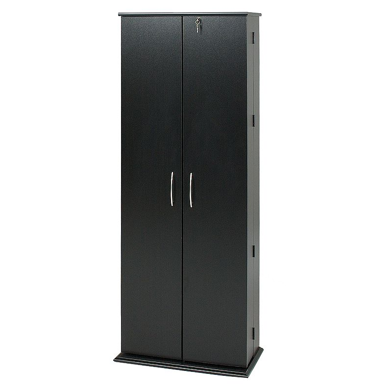 Prepac Grande Black Locking Multimedia Storage Cabinet