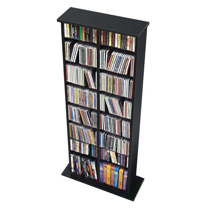 Prepac BMA-0320 Double Multimedia Storage Tower in Black 91468215