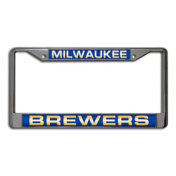 Milwaukee Brewers Metal License Plate Frame