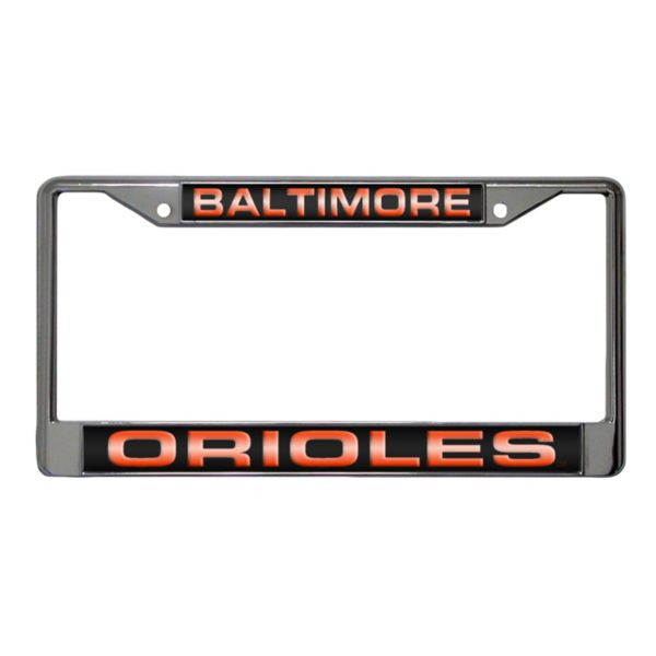 Baltimore Orioles Metal License Plate Frame
