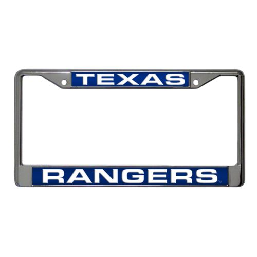 Texas Rangers Metal License Plate Frame
