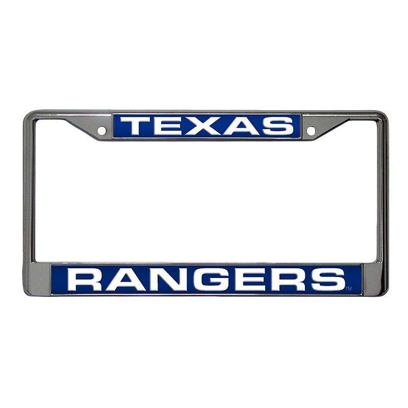 Texas Rangers Metal License Plate Frame