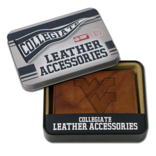 West Virginia Mountaineers Leather Bifold Wallet