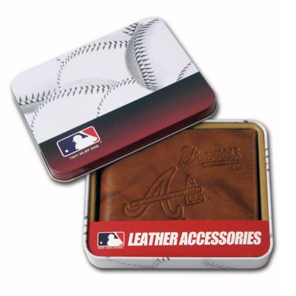 Atlanta Braves Leather Bifold Wallet