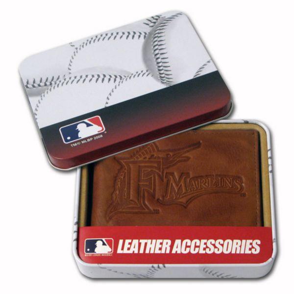 Florida Marlins Leather Bifold Wallet