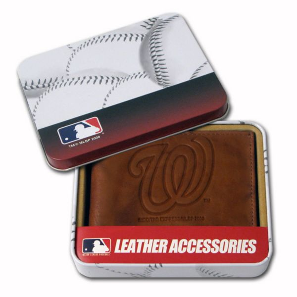 Washington Nationals Leather Bifold Wallet