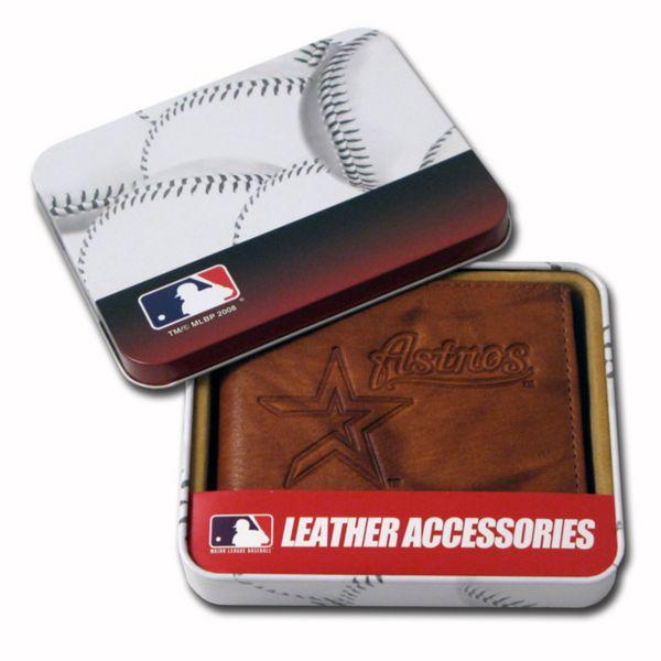 Houston Astros Leather Bifold Wallet