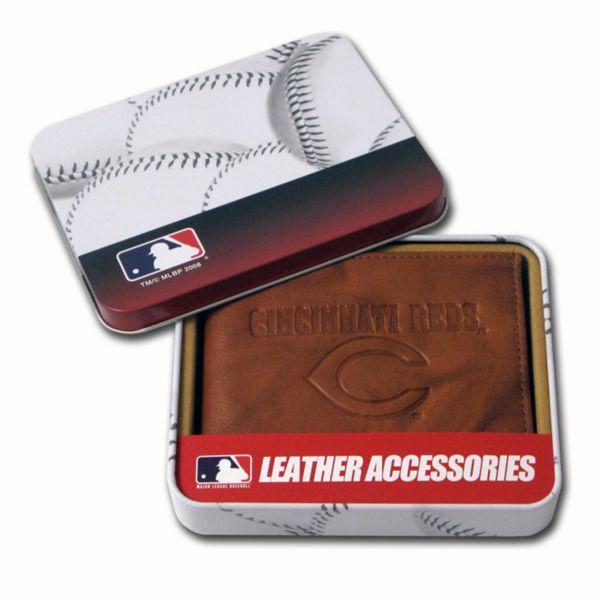 Cincinnati Reds Embossed Leather Bifold Wallet