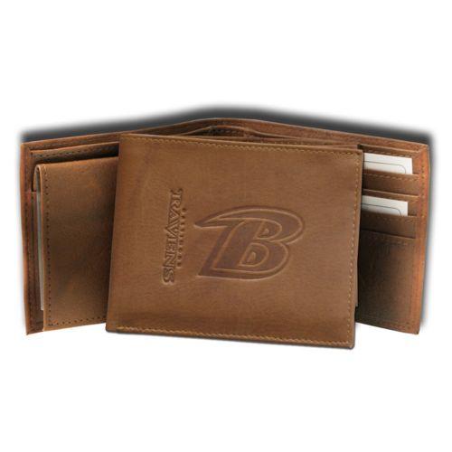 Baltimore Ravens Leather Bifold Wallet