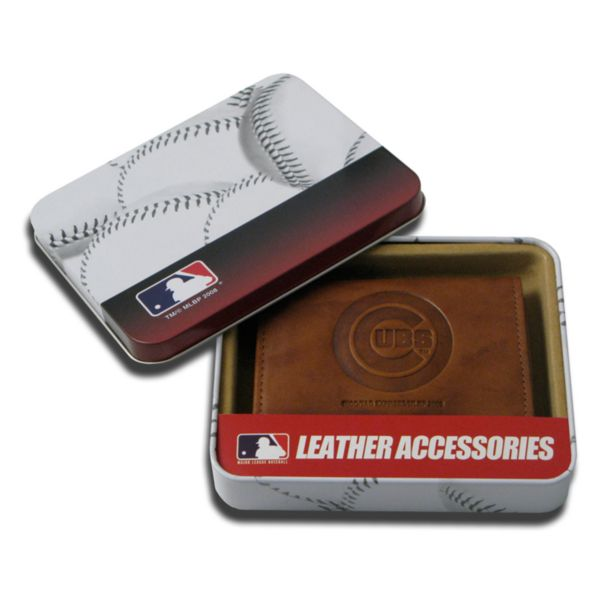 Chicago Cubs Leather Trifold Wallet