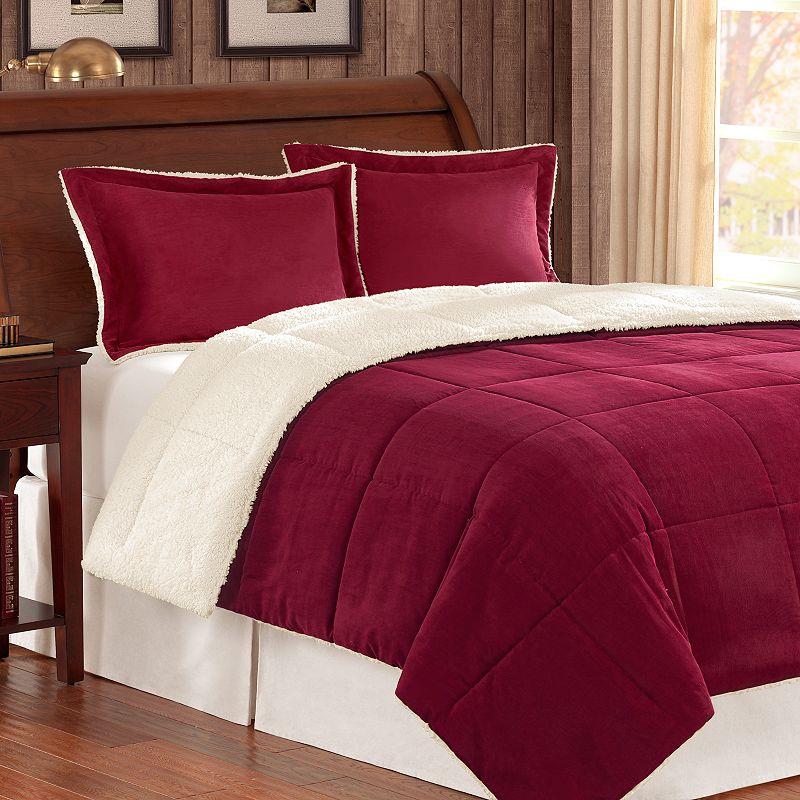 Comfort classics reversible corduroy comforter set full queen dealtrend - Corduroy bedspreads ...