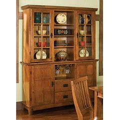 Arts & Crafts Dining Buffet & Hutch by