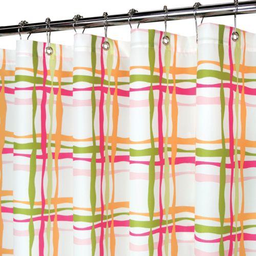 Park B. Smith Wavy Plaid Fabric Shower Curtain