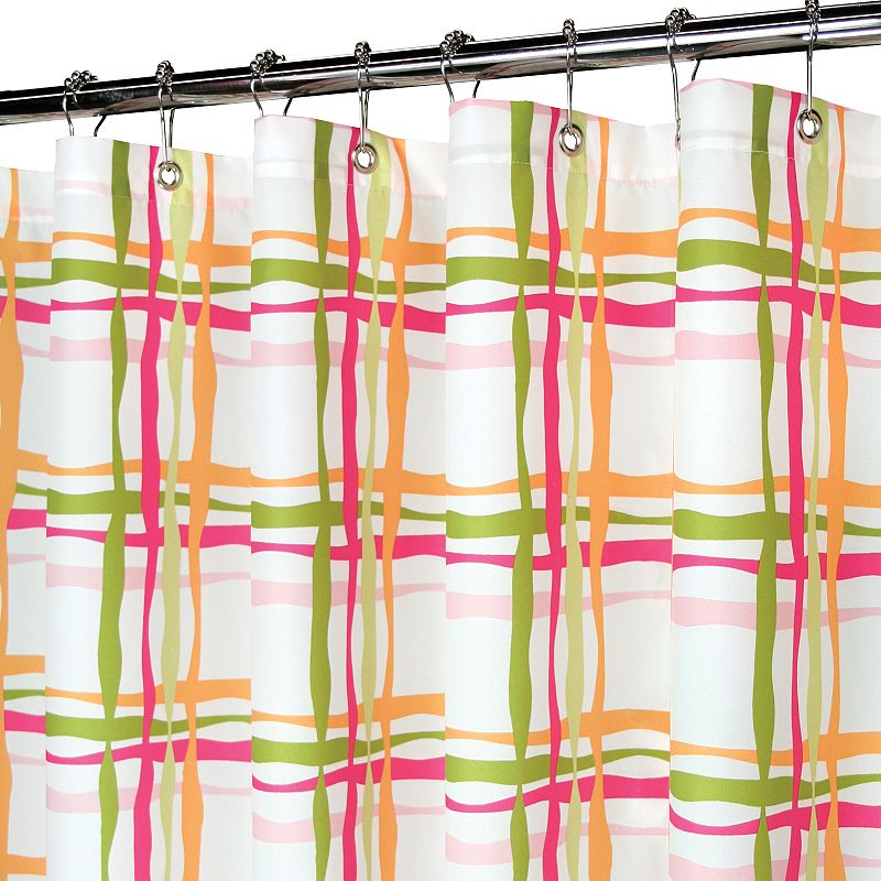 Park B. Smith Wavy Plaid Fabric Shower Curtain