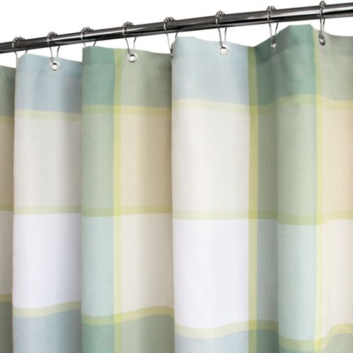 Park B. Smith Portman Plaid Fabric Shower Curtain