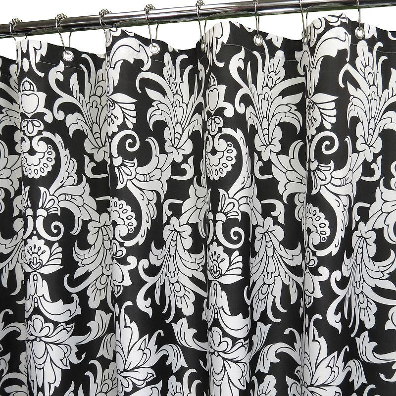 Park B. Smith Rococo Scroll Fabric Shower Curtain