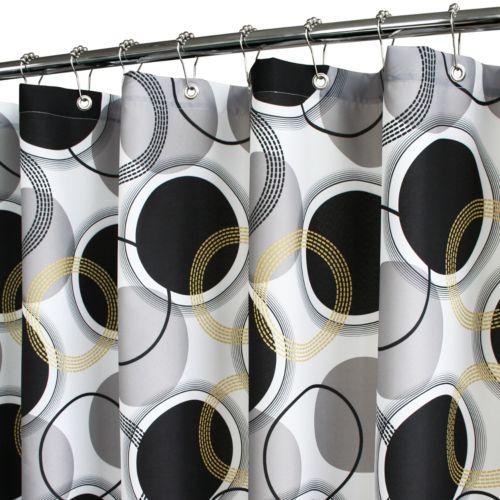 Park B. Smith Circle Central Fabric Shower Curtain