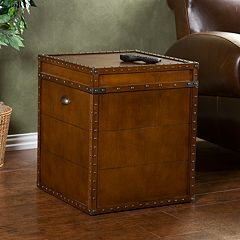 Steamer Trunk End Table by
