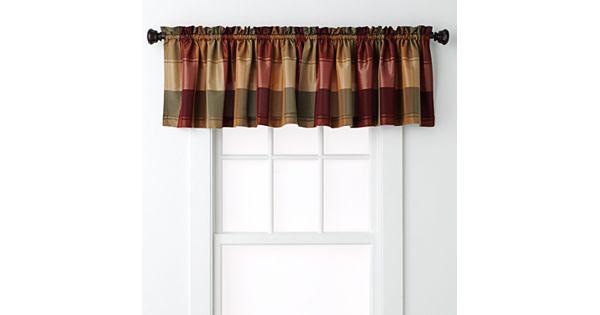 United Curtain Co Plaid Valance 54 39 39 X 18 39 39