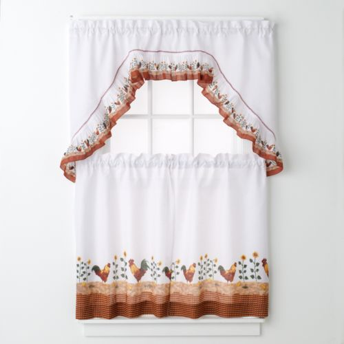United Curtain Co. Roosters 3-pc. Kitchen Curtain Set