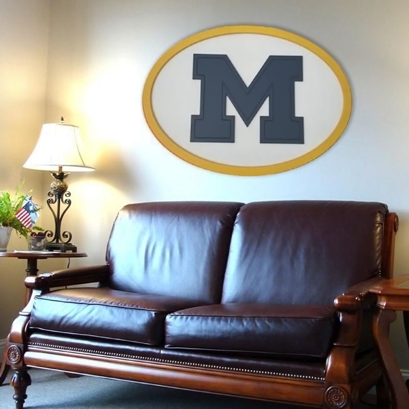 Michigan Wolverines 46-inch Carved Wall Art