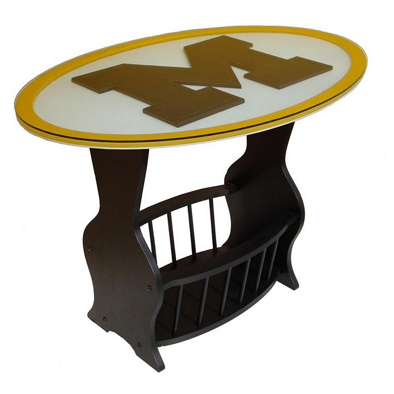 Michigan Wolverines End Table