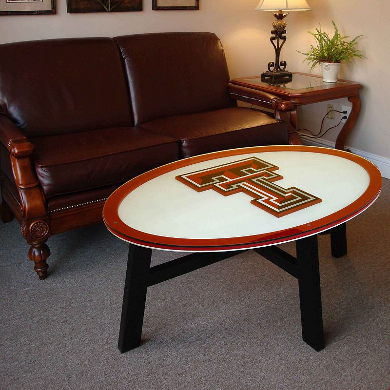 texas tech red raiders coffee table black red
