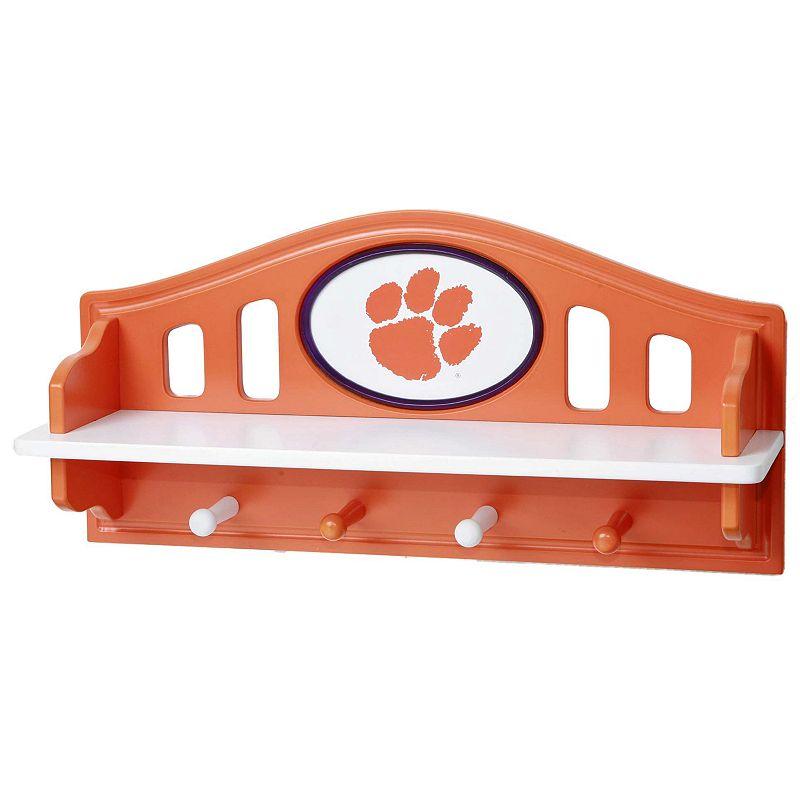 Clemson Tigers Wooden Shelf