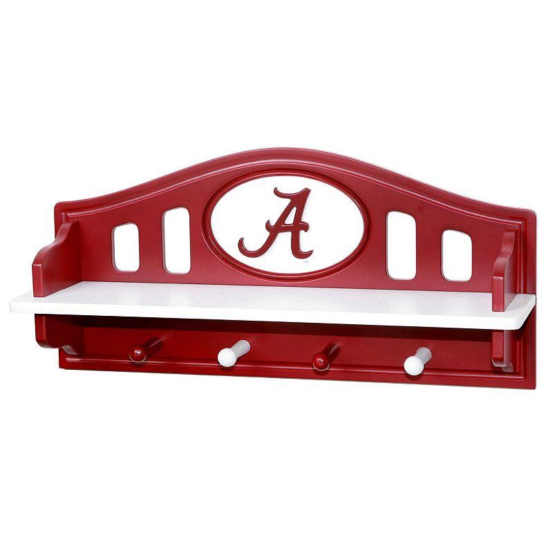 Alabama Crimson Tide Wooden Shelf