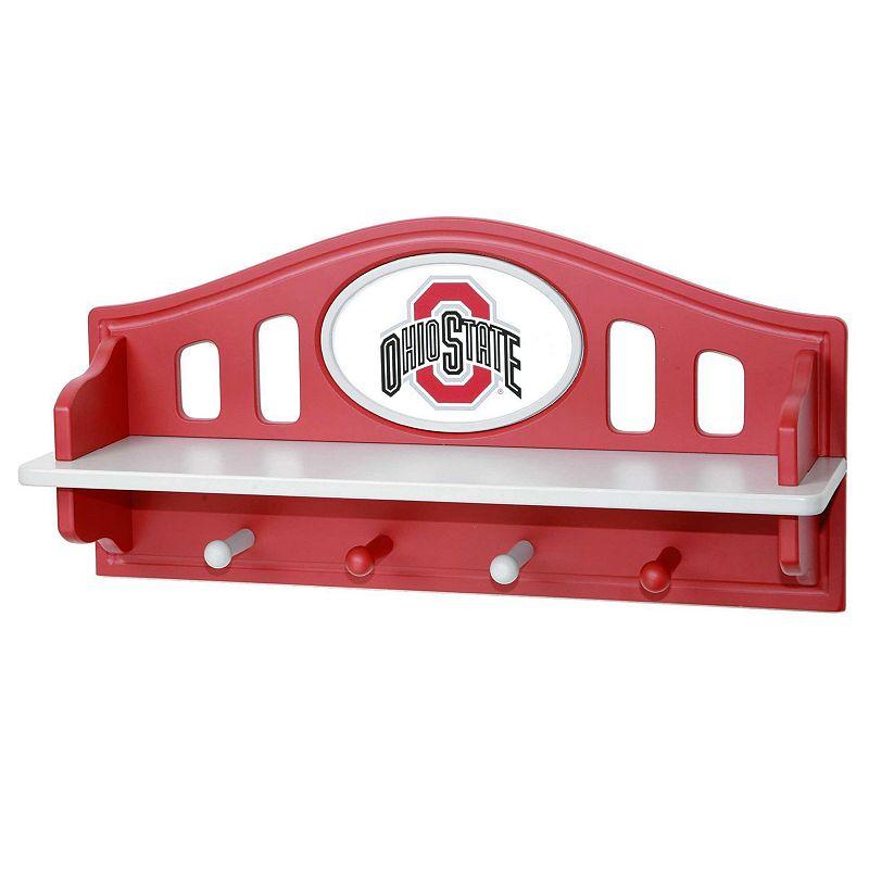 Ohio State Buckeyes Wooden Shelf