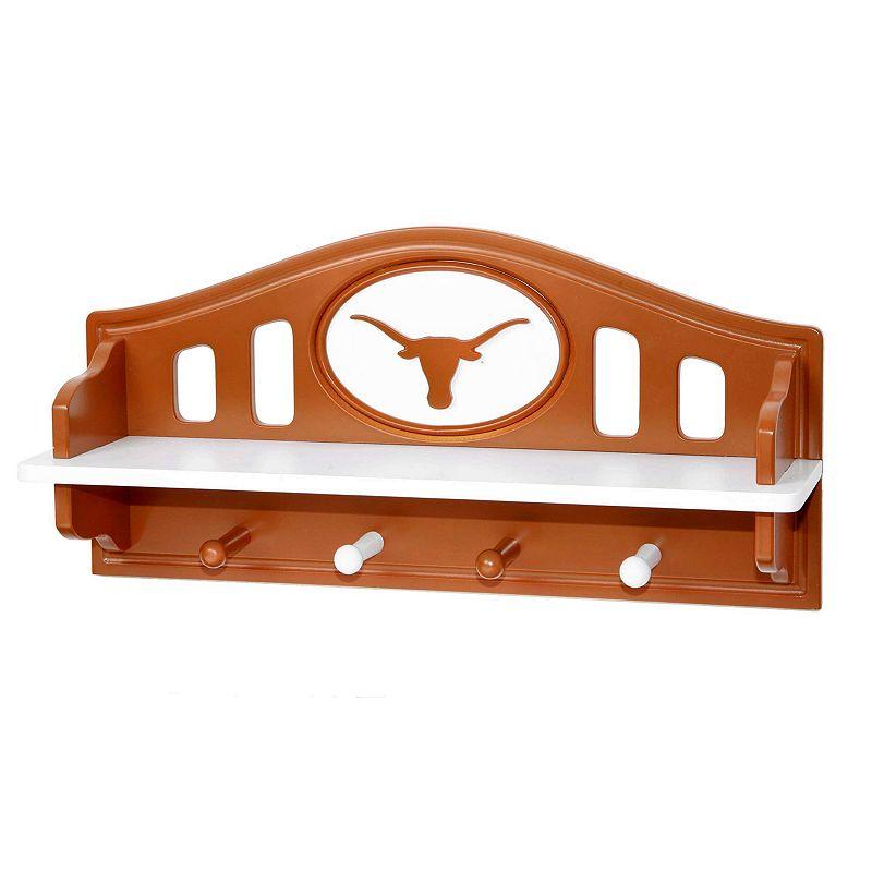 Texas Longhorns Wooden Shelf