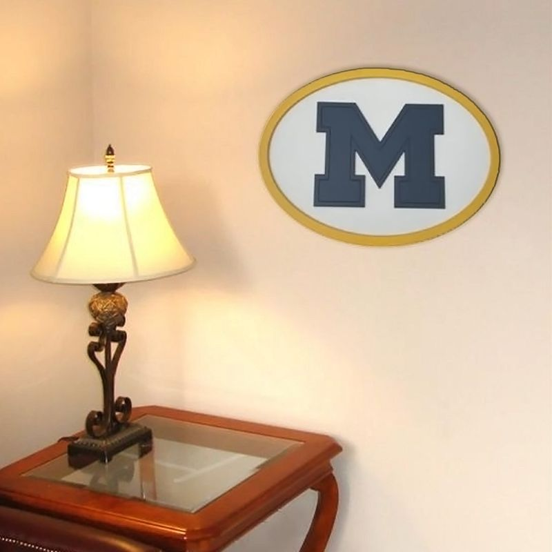 Michigan Wolverines 31-inch Carved Wall Art