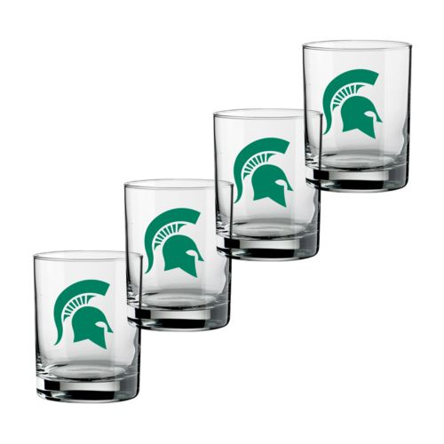 Michigan State Spartans 4-pc. Rocks Glass Set