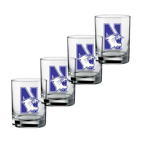 Northwestern Wildcats 4-pc. Rocks Glass Set
