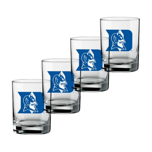 Duke Blue Devils 4-pc. Rocks Glass Set