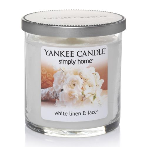Yankee Candle simply home White Linen and Lace 7-oz. Jar Candle