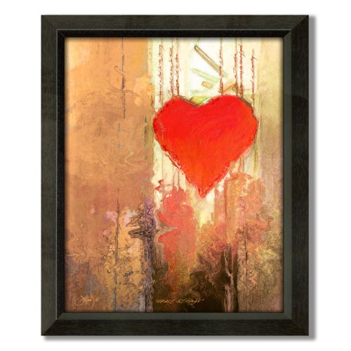 Heart Strings 24.5 x 20 Framed Canvas Art