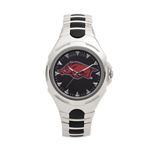 Game Time Victory Series Arkansas Razorbacks Silver-Tone Watch - Men