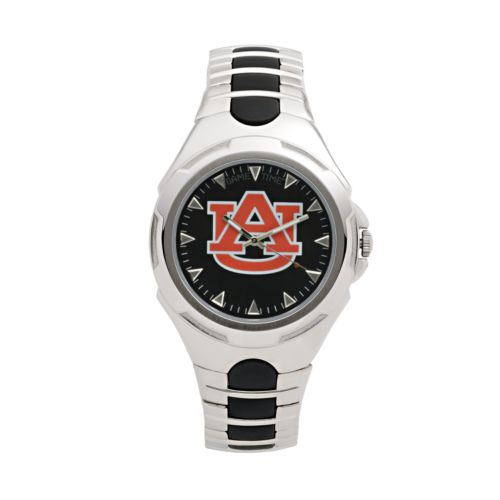 Game Time Victory Series Auburn Tigers Silver-Tone Watch - Men