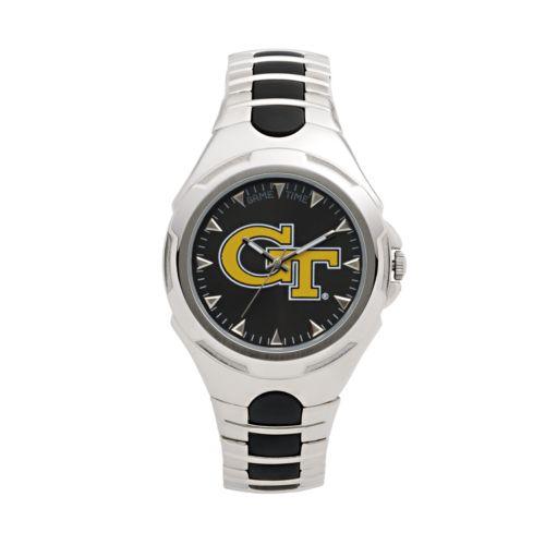 Game Time Victory Series Georgia Tech Yellow Jackets Silver-Tone Watch - Men