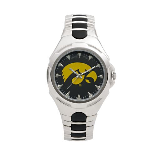 Game Time Victory Series Iowa Hawkeyes Silver-Tone Watch - Men