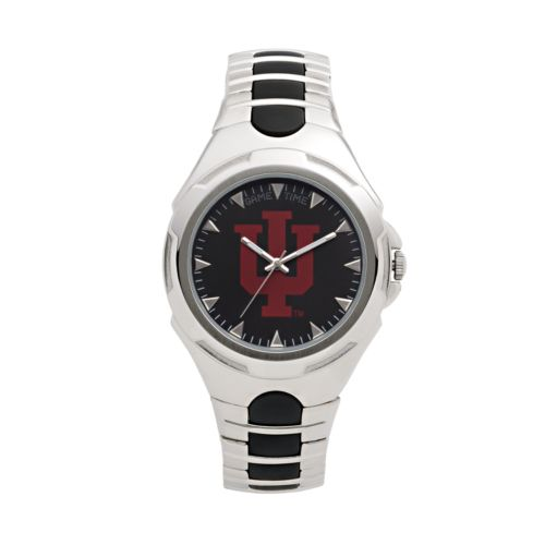Game Time Victory Series Indiana Hoosiers Silver-Tone Watch - Men