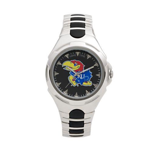 Game Time Victory Series Kansas Jayhawks Silver-Tone Watch - Men