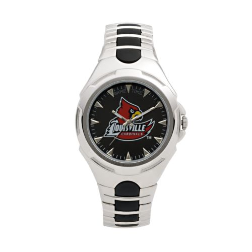 Game Time Victory Series Louisville Cardinals Silver-Tone Watch - Men