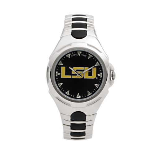 Game Time Victory Series LSU Tigers Silver-Tone Watch - Men