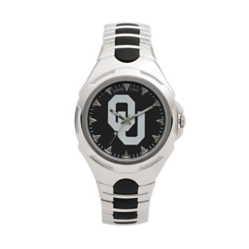 Game Time Victory Series Oklahoma Sooners Silver-Tone Watch - Men