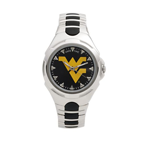Game Time Victory Series West Virginia Mountaineers Silver-Tone Watch - Men