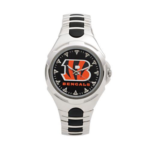 Game Time Victory Series Cincinnati Bengals Silver-Tone Watch - Men